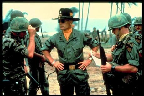 """Apocalypse Now"" (1979), starring Robert Duvall (right, center), was inspired by Joseph Conrad's ""Heart of Darkness."""